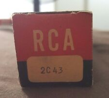Vintage Rca Electron Tubes 2C43 Radio Tv Nos New In Box