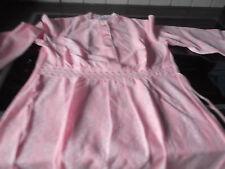 Schiesser Nachthemd langarm Bodenlang Gr 40  rosa   neu