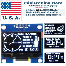 "1.3"" I2C IIC 128X64 LED OLED LCD  Display Module Arduino White Color SSD1106 US"