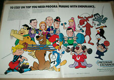 Bewitched I Dream Of Jeannie Scooby Doo Underdog Bullwinkle 1988 Ad /2 page Ad