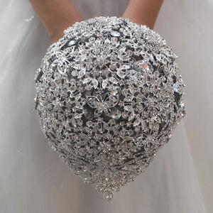 Luxury Wedding Flower Bride Brooch Rhinestone Crystal Bridal Wedding Bouquet