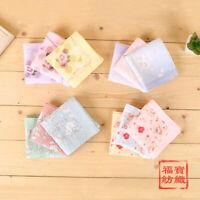 100% Cotton Combed Yarn Flower Handkerchiefs Square Pocket Hanky Women 45*45CM