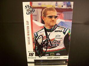 Rare Bobby Labonte #18 Interstate Batteries Press Pass 2004 Card #16 AUTOGRAPHED
