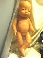 Vintage Baby Girl Anatomically Correct Doll Realistic Baby Vinyl Lifelike 17""