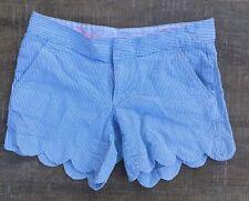 Lilly Pulitzer Womens Seersucker Buttercup Short Size 0 Aeriel Blue