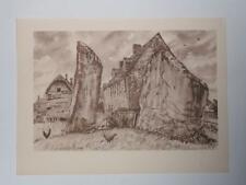 Print Adam and Eve Avebury by Vincent Lines RWS