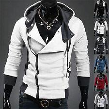 Mens Zip Up Slim Hoodies Hooded Sweatshirt Coat Jacket Outwear Sweater Pullover