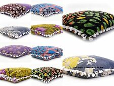 5 PC Reversible Cushion Cover Kantha Quilt Pillow Cover Vintage Decor Handmade