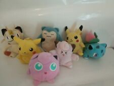 Nintendo pokemon soft toys joblot off 7. 5-6 inch tall