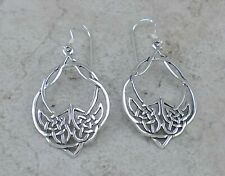 LARGE .925 STERLING SILVER CELTIC KNOT EARRINGS  style# e0950