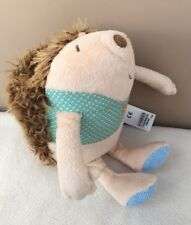 M&S Brown Beige Chester Hedgehog Teddy Comforter Soft Baby Toy Roll Up