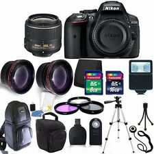 Nikon D5300 24.2 MP Digital SLR Camera 3 Lens Kit 18-55VR + 24GB Accessory Kit