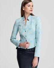 Elie Tahari E203D103 Womens Turquoise Lined Quinn Suit Coat Jacket Blazer 4