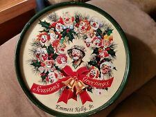 Collectible 1995 Clown Emmett Kelly Jr Season's Greeting Wreath Tin