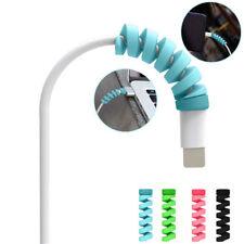 4 Stück Spiral USB Daten Laden Kabel Kopfhörer Line Cord Hülle Schutz Kurbel
