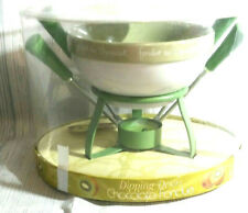 Green Dipping Desire Chocolate Fondue 7 Piece Set Kitchen Utensil Bowl Tea Light