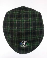 Vintage Shandon Golf Hat Cap Embroidered Green Plaid Lahinch Size 7 M 57 cm h6
