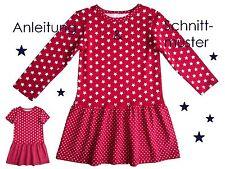 Schnitt + Anleitung Jerseykleid für Mädchen Gr. 80 - 140 als Ebook