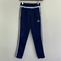 Boys Small S Kids Adidas Climacool Navy 3 Stripes Ankle Zip Training Track Pants