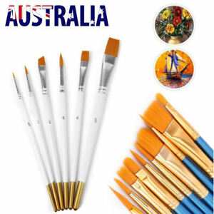 6/10PCS Oil Painting Brushes Set Acrylic Watercolor Artist Face Paint Craft Tool