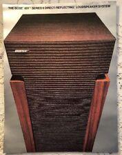BOSE 601 SERIES II LOUDSPEAKER SYSTEM ORIGINAL COLOR BROCHURE AD 1981 M028