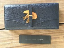 NWT Marc Jacobs Petal to The Metal Bifold Leather Wallet Navy Blue W's M0009611