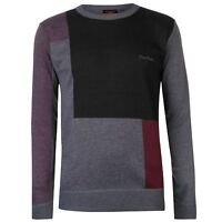NEW Mens 2018 Pierre Cardin Crew Neck Long Sleeves Block Knit Jumper Size S-XXL