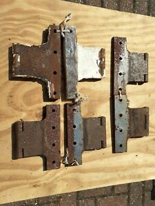 "Vintage old Parliament Hinges Sets (3) specialist large 5 "" inches door etc (6)"