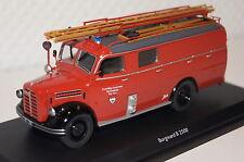 """Borgward B 2500 Feuerwehr LF8 """"FFW Heuchelheim"""" rot  1:43 Schuco neu & OVP3462"""