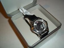 Wenger 79008 Swiss  Army Watch Mens silver  Dial  black LEATHER