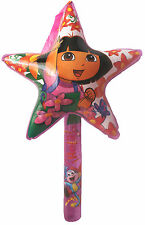 1 x 90CM DORA THE EXPLORER STAR WAND INFLATABLE-GIRLS/BOYS/KIDS-PARTIES, NOVELTY