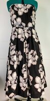 City Chic Strapless Fit Flare Dress Tulle Skirt *Pockets* Formal Grad Plus Sz S