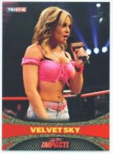 """VELVET SKY """"GOLD PARALLEL CARD #14 #1/5"""" TNA IMPACT 2009"""
