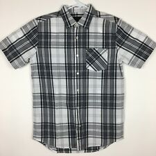 NEW Hurley Mens Plaid Button Down Short Sleeve Casual Shirt - Size S -  NWOT