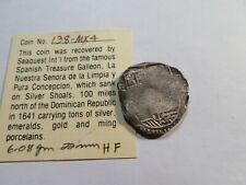 P165 Dominican Republic Concepcion Galleon Shipwreck (1641) Silver Cob 2 Reales