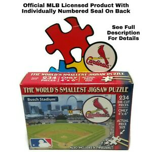 World's Smallest Puzzle MLB St. Louis Cardinals Baseball TDC Puzzles 234 Pieces