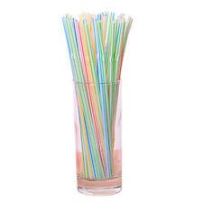 1000Pcs Disposable Flexible Straws Plastic Drinking Supplies N2H4