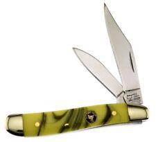 Frost Cutlery Wild Turkey Peanut Knife Funky Monkey Yellow Handle NEW WTC107FM