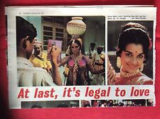 m2b ephemera 1974 article sonia sahni asha parekh indian films folded