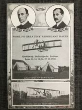 Indianapolis Motor Speedway postcard Wright Brothers airplane race 1910 IMS frsp