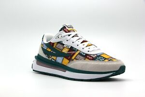 NEW MEN FILA RENNO WHITE GREEN SUEDE RETRO EDITION RUNNING LACE UP SNEAKERS