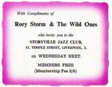 1961 RORY STORM AND THE WILD ONES CONCERT TICKET LIVERPOOL RINGO STARR BEATLES