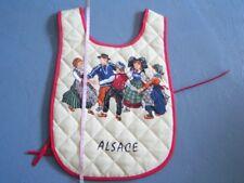 Tablier bavoir pour enfants Alsace Alsacien Coton NEUF fabriqué en France