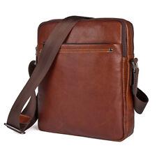 Mens Genuine Leather Shoulder Messenger Cross body Bag Briefcase Satchel Handbag