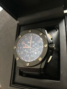 TW Steel CEO Tech Black Dial Chronograph Leather Men's Watch CE4009