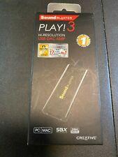 Creative Sound Blaster Play 3 Hi-Res USB DAC AMP Audio Adapter SB1730