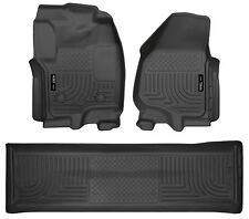 Husky Liners WeatherBeater Floor Mats - 3pc - 99711- Ford F250/F350/F450 - Black