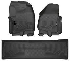 Husky Liners WeatherBeater Floor Mats - 3pc - 99711- Ford F250/F350/F450 - Black