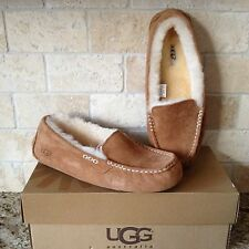 UGG Ansley Chestnut Suede Moccasin Slippers Shoes US 7 Womens 3312