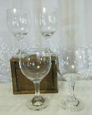 """Contemporary Glass Lot 4 Arcoroc Balloon Red Wine 12 oz. 6"""" Stemware EUC Clear"""